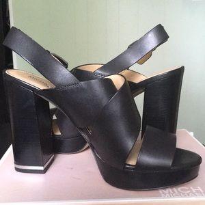 Michael Kors Black platform shoes size 9